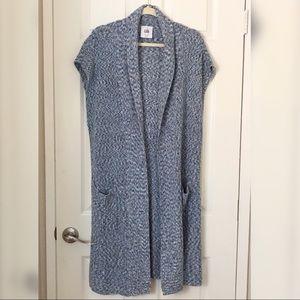 """cabi """"Napa"""" blue knit long vest"""